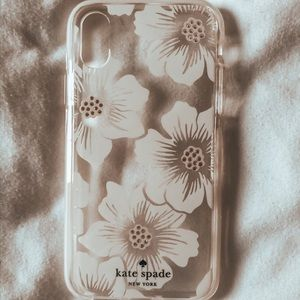 iPhone X/Xs case-kate spade hollyhock shock